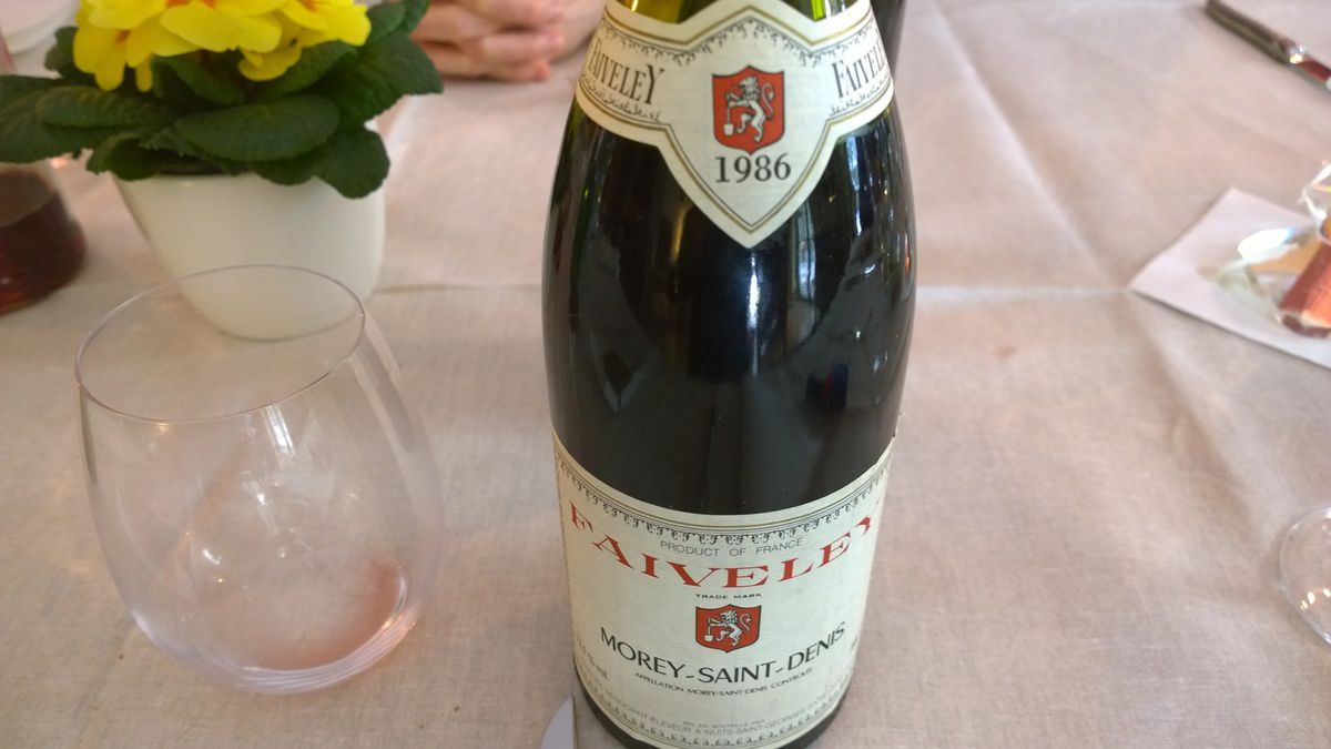 Morey Saint Denis Faiveley 1986