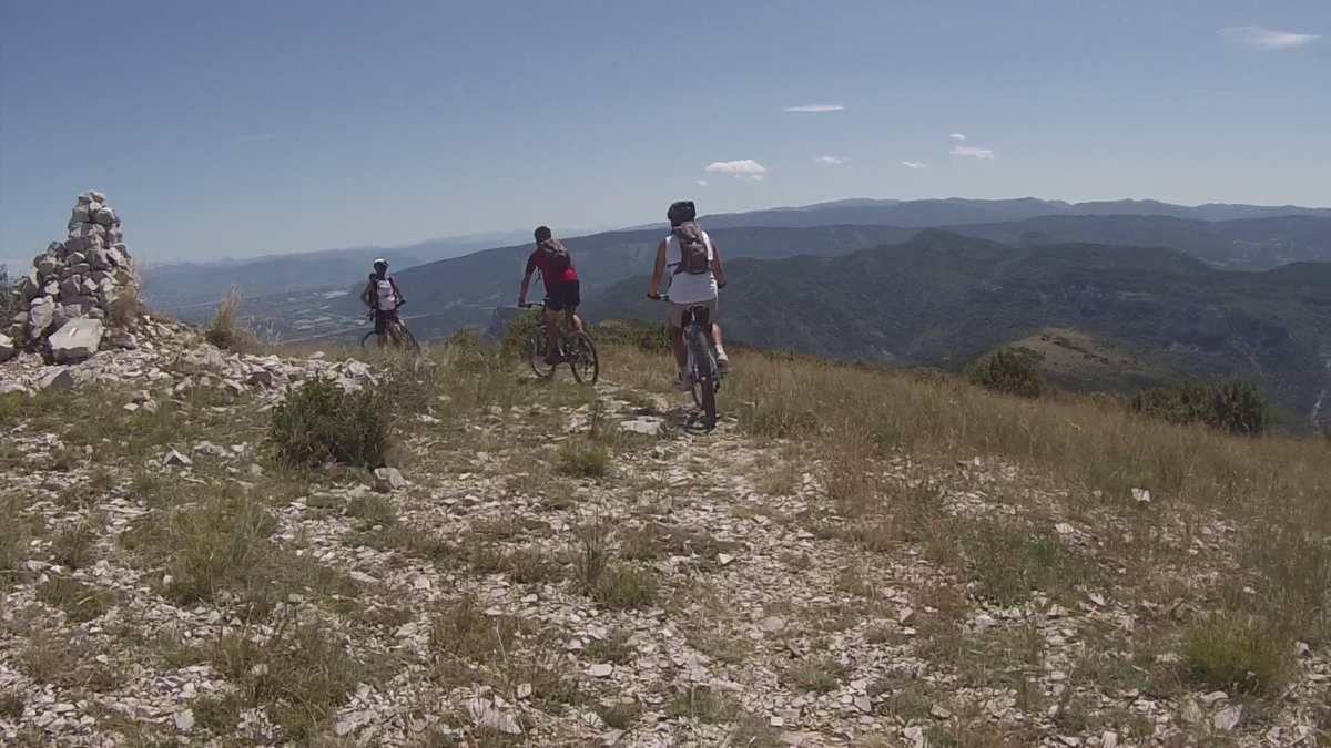 Le Rocher de Beaumont (Hautes Alpes) en VTT - 2014