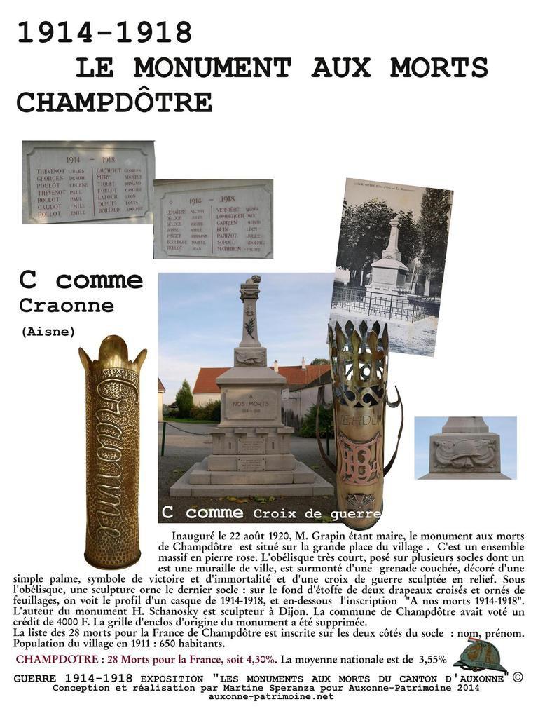GUERRE de 1914-1918  LIEUX DE MEMOIRE