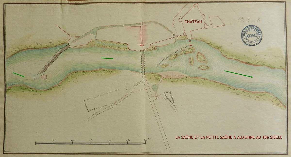 Plan par Duborgia aux Archives municipales d'Auxonne