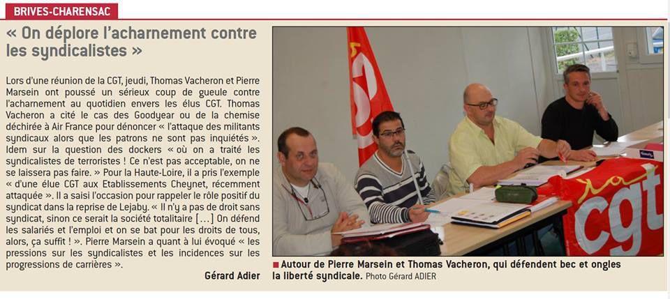 Brive-Charensac la CGT se fâche pour les libertés syndicales !