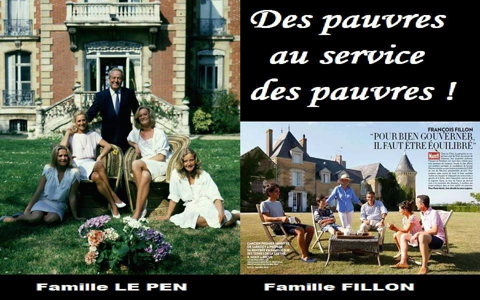 Seul le fric les intéressent, pas seulement à Fillon mais aussi aux Le Pen !