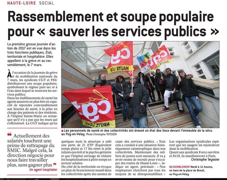 Le Puy en Velay en ébullition pour ses Services Publics
