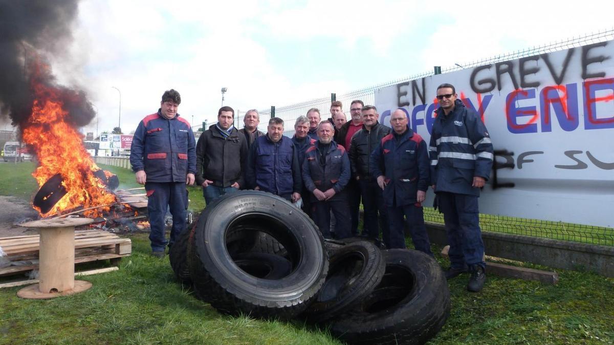 Grève pour les salaires chez Endel Engie à Poulainville