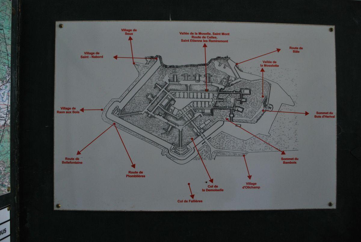 Infirmerie, salle d'opération,brancard à bras, lit occuppé, coffrage pour bléssé, attelles, plan du fort