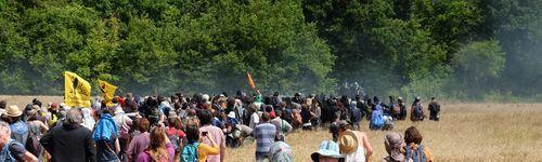 La manifestation de réoccupation du Bois des Mandres le 16 Juillet a été réprimée