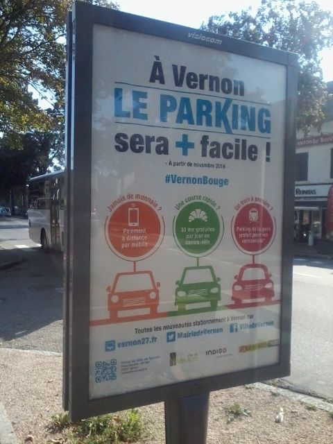 VERNON: NON AUX PARKINGS PAYANTS!