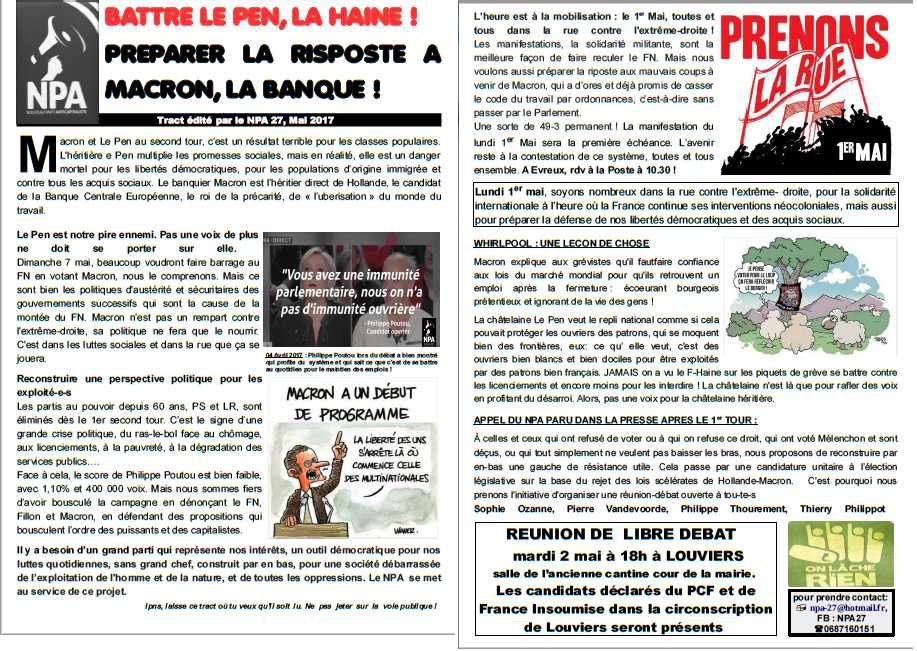 Tract NPA mai 2017