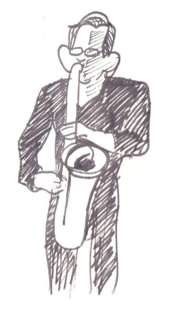 Chris Bullock, saxophoniste baryton.