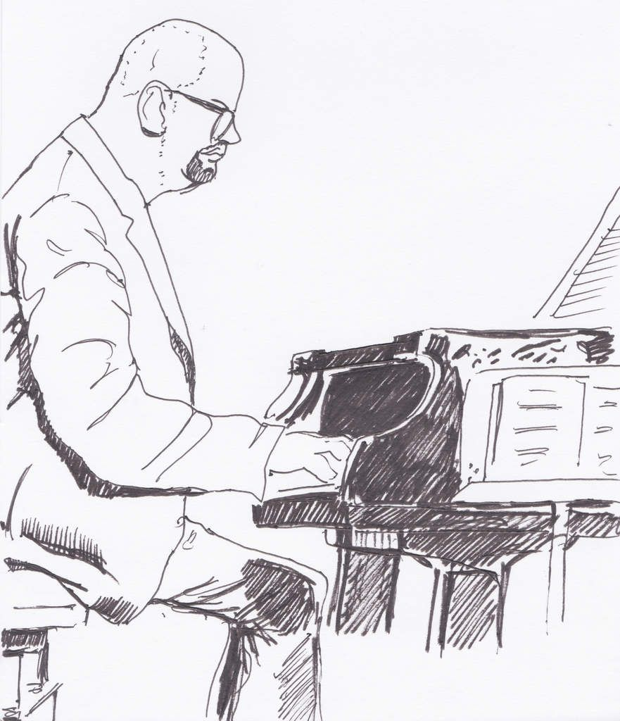 Ethan Iverson, piano.