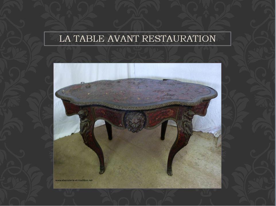 Restauration : Table violon Boulle époque Napoléon III