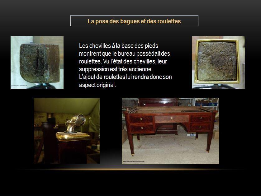 Restauration : Bureau cylindre acajou XIXe
