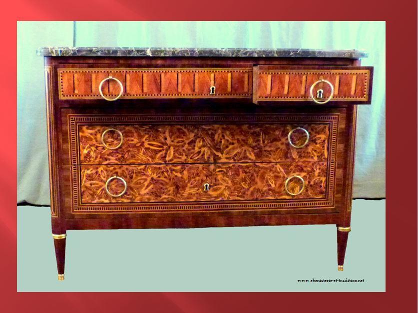 Restauration : Commode XVIIIe marquetée en bois de bout