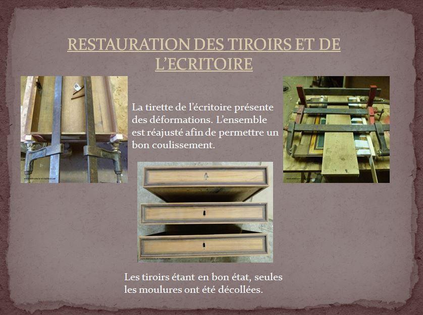 Restauration : Table d'appoint estampillée E. Avril