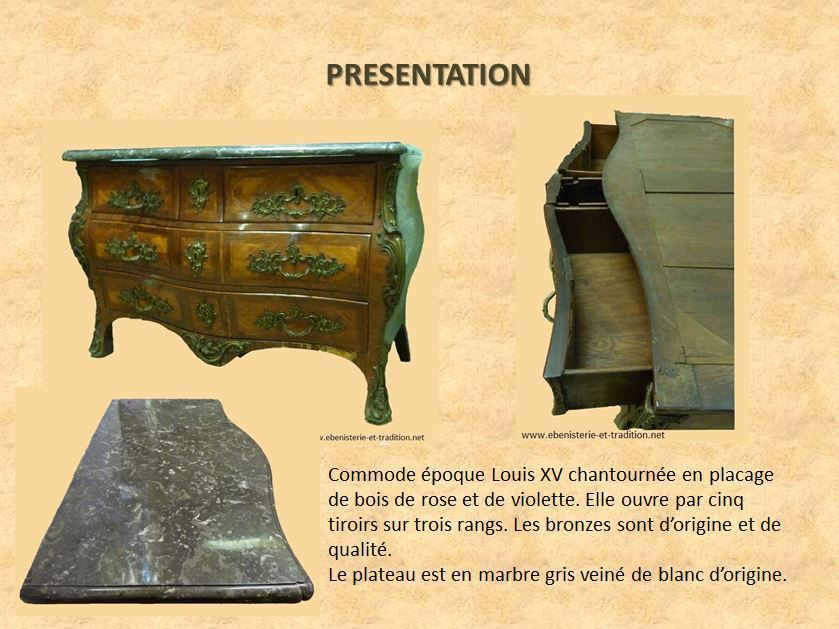Commode tombeau Louis XV estampillée Fromageau