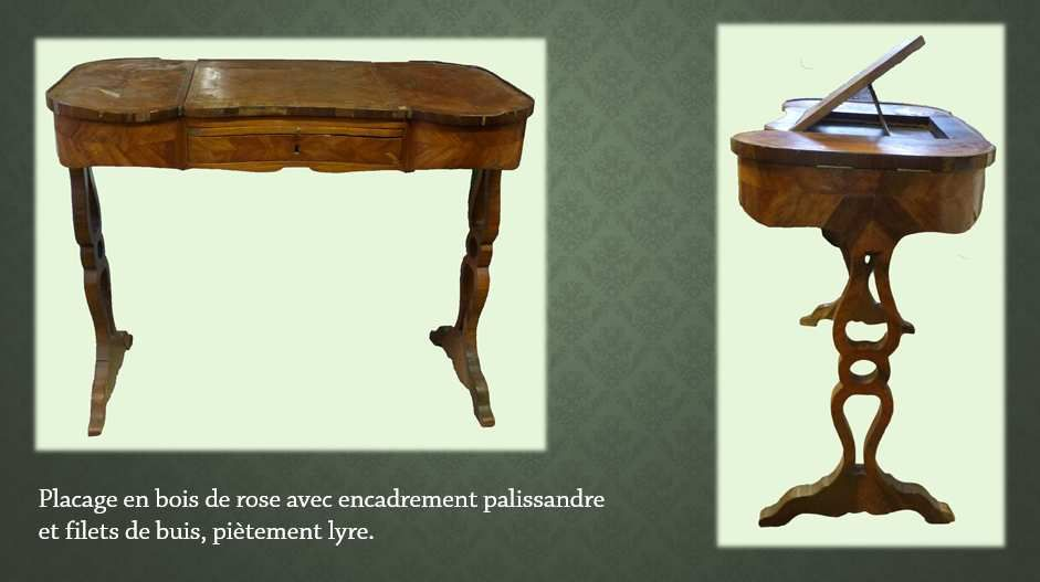 Table liseuse signée Nicolas Petit