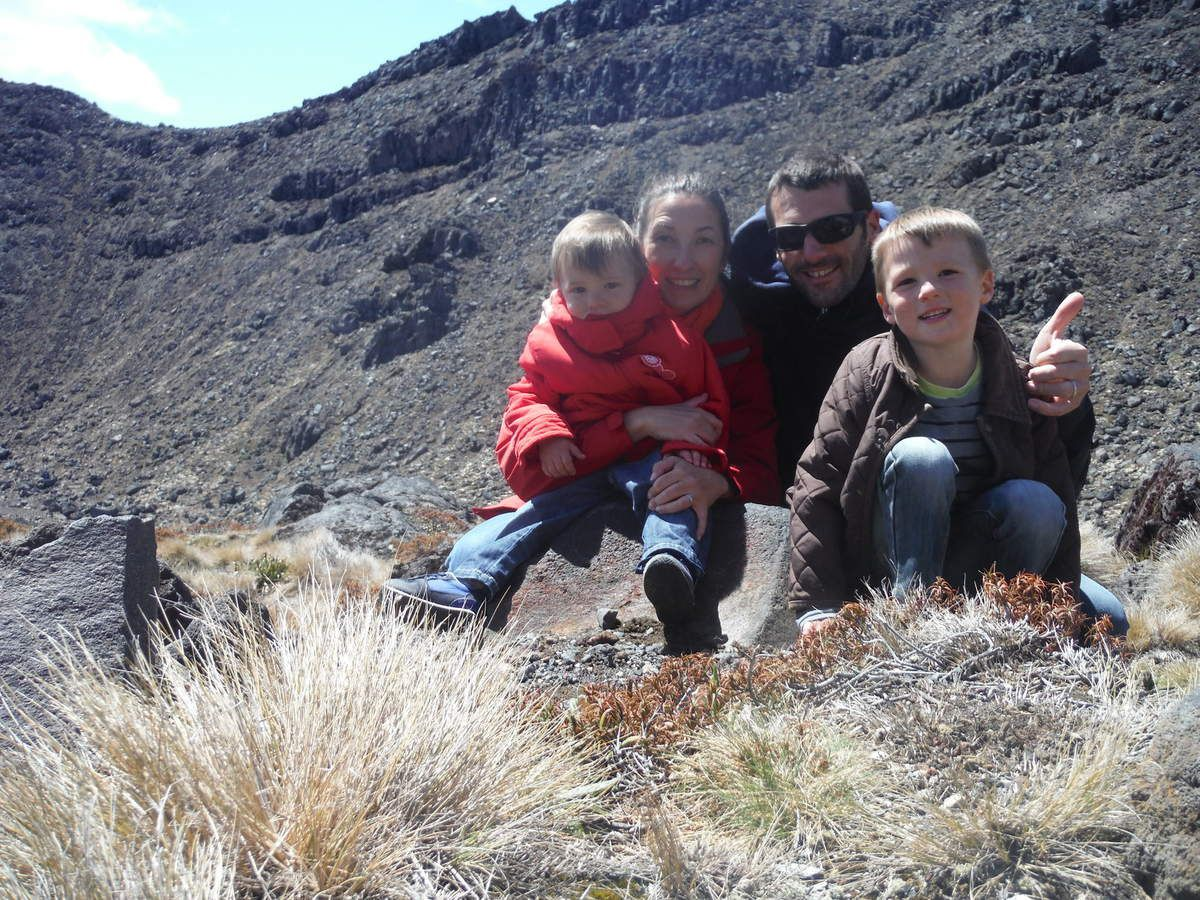 photo de famille à Tongariro