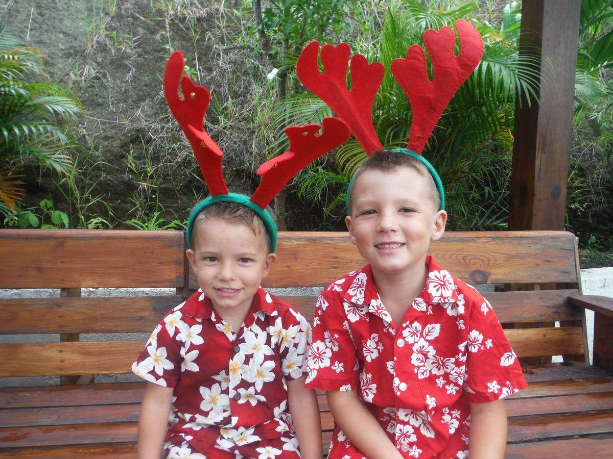 Nos deux petits rennes de Tahiti