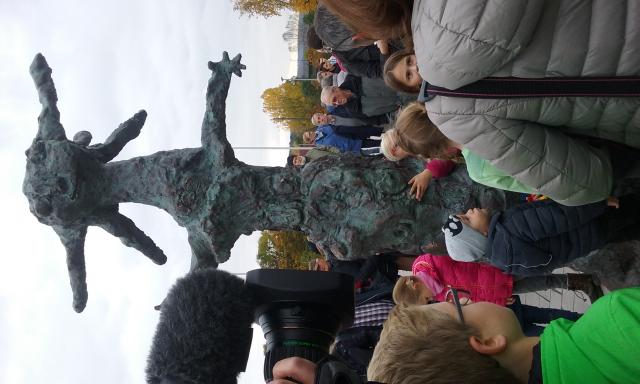 Inauguration de la Statue de Blanche Neige.