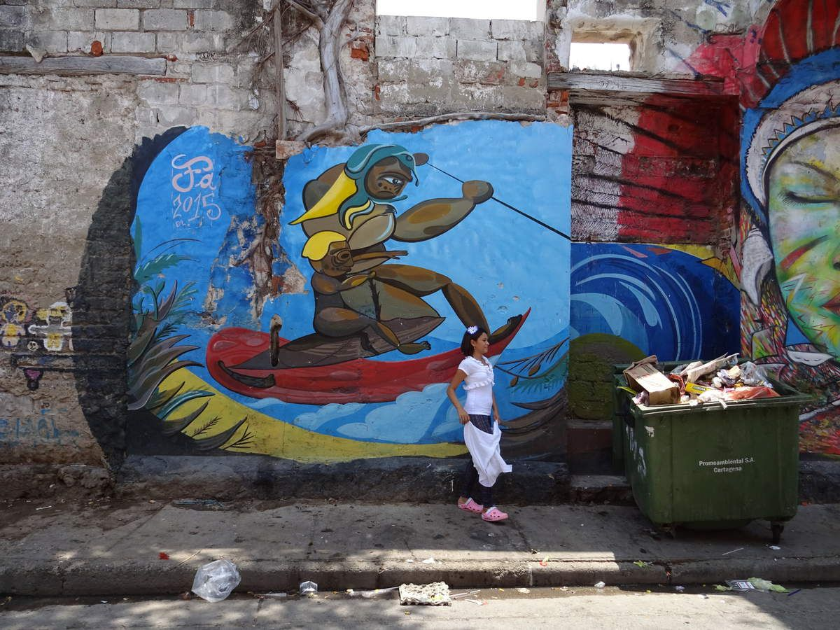 Kolumbien - Cartagena - Getsemani - Graffiti