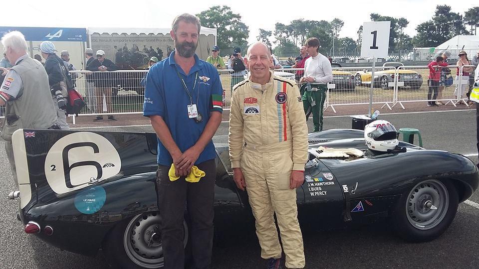 Andy WALLACE, vainqueur des 24 Heures du Mans 1988 au volant de sa Jaguar Type D.