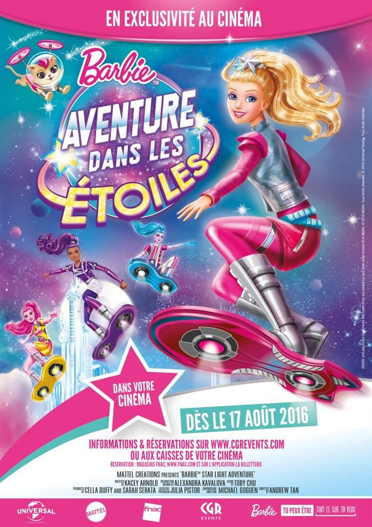 Copyright : BARBIE and associated trademarks and trade dress are owned by, and used under license from Mattel. © 2016 Mattel. Tous droits réservés.