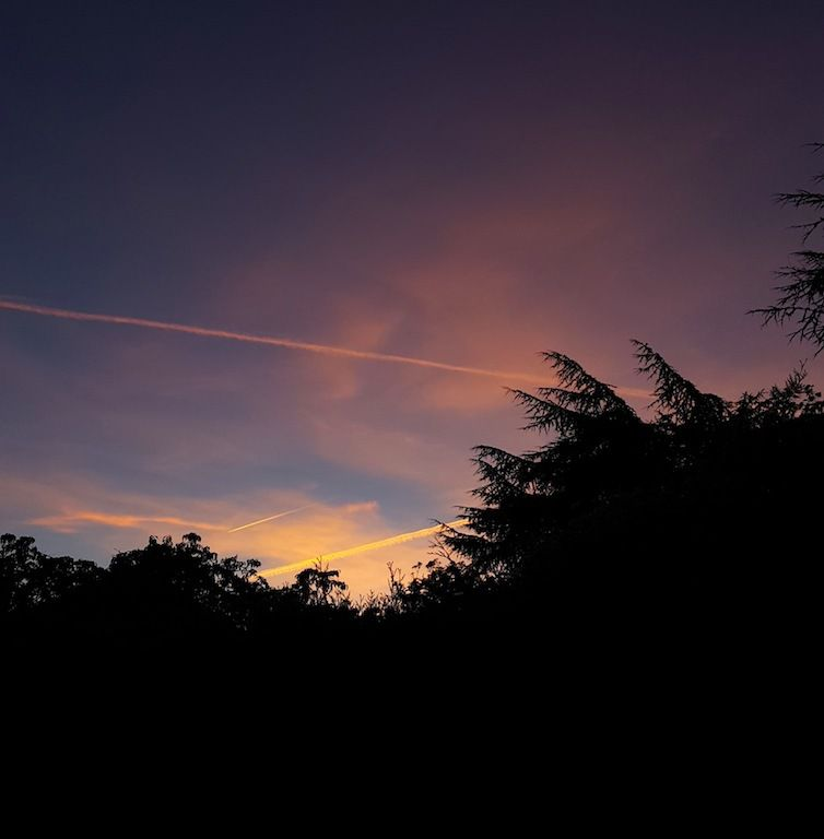 Premier coucher de soleil à l'heure d'hiver ! 17h30 pfuuuu....