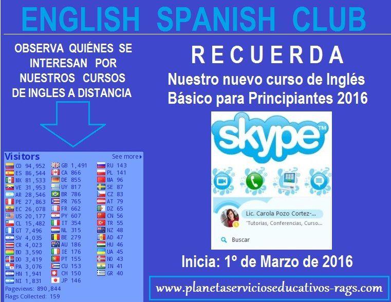 Nuevo curso de Inglés Básico para Principiantes por Skype