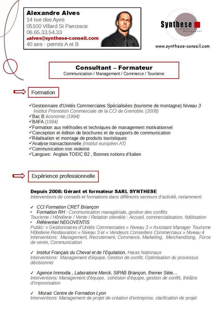 Cv Consultant Formateur Le Blog De Aalves
