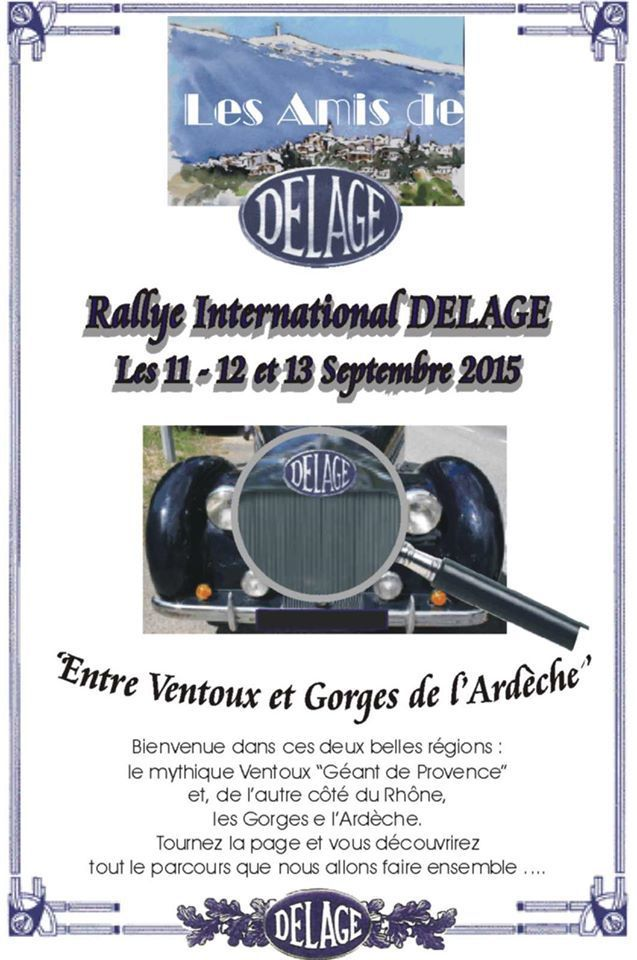 RALLYE INTERNATIONAL DELAGE 2015