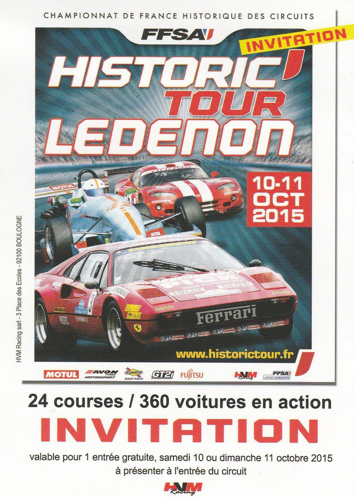 HISTORIC'TOUR LEDENON en images