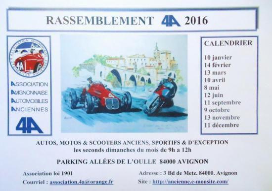 13 décembre à Avignon avec le rassemblement mensuel organisé par le Club Avignonnais des 4A