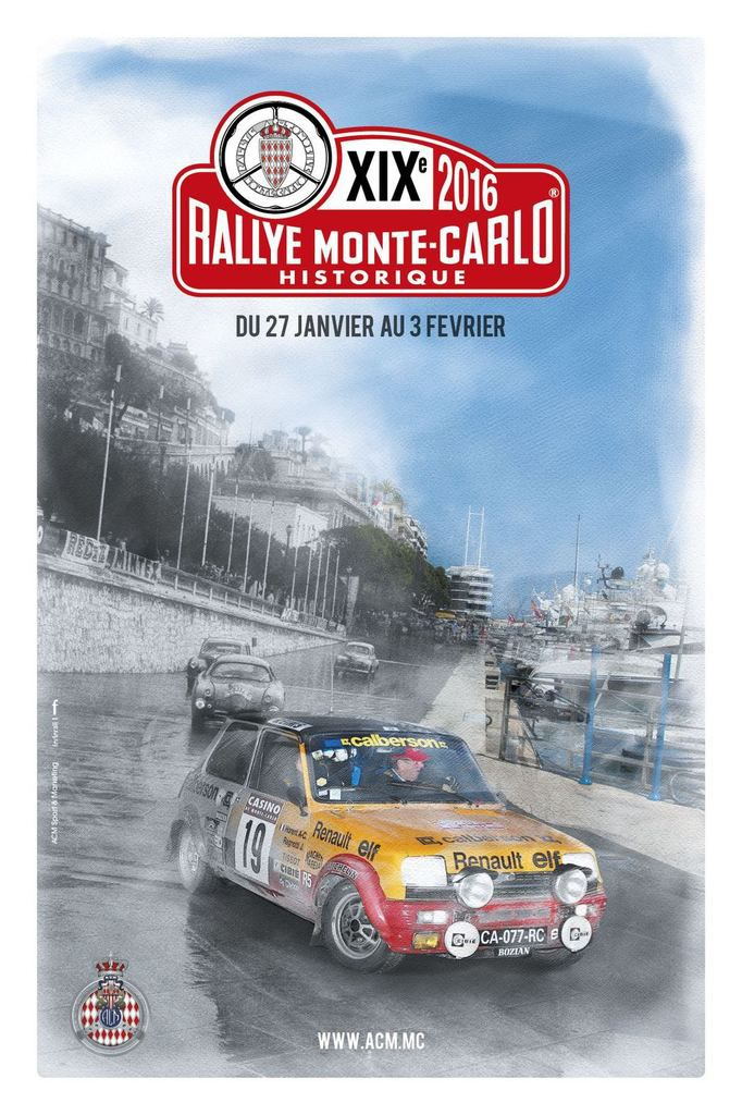 Rallye Monte-Carlo Historique du 27 janvier au 03 février 2016, il sera le 19ème