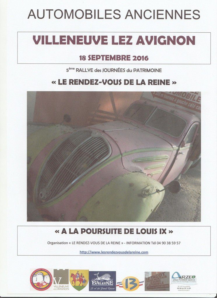 LE RENDEZ-VOUS DE LA REINE – Rallye du Patrimoine 2016