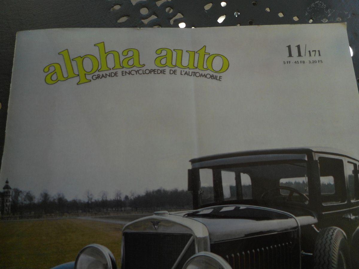 ACHAT - VENTE d'ALPHA AUTO