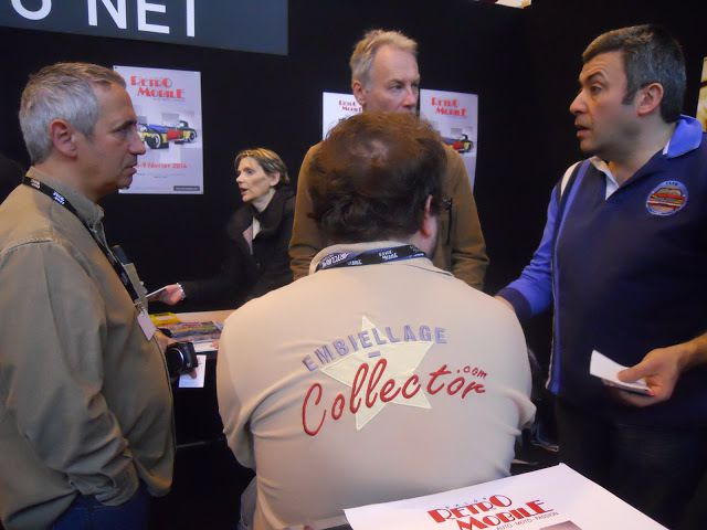 Le stand « Les RDV du NET » sur le Salon RETROMOBILE 2017