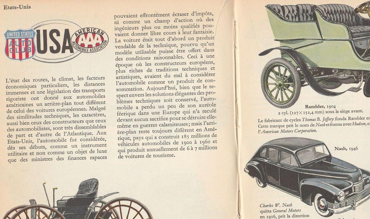 AUTOS AMÉRICAINES Impossible de les dissocier du paysage français de l'après-guerre