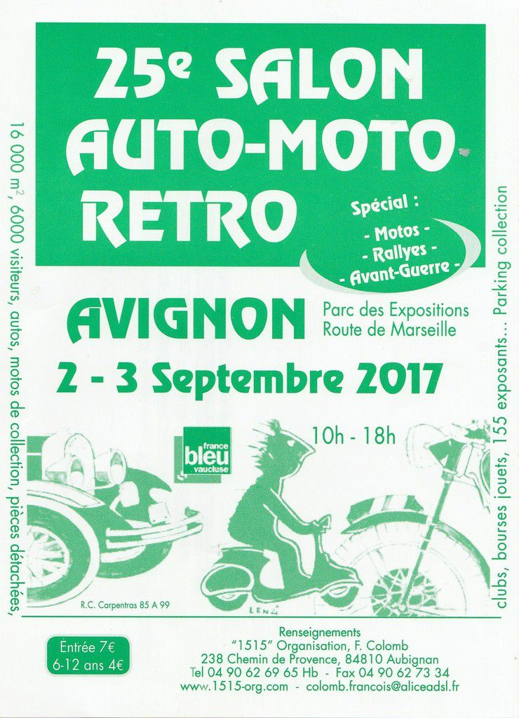 25 me auto moto retro d 39 avignon 84 2 et 3 septembre 2017 for Salon piscine avignon 2017