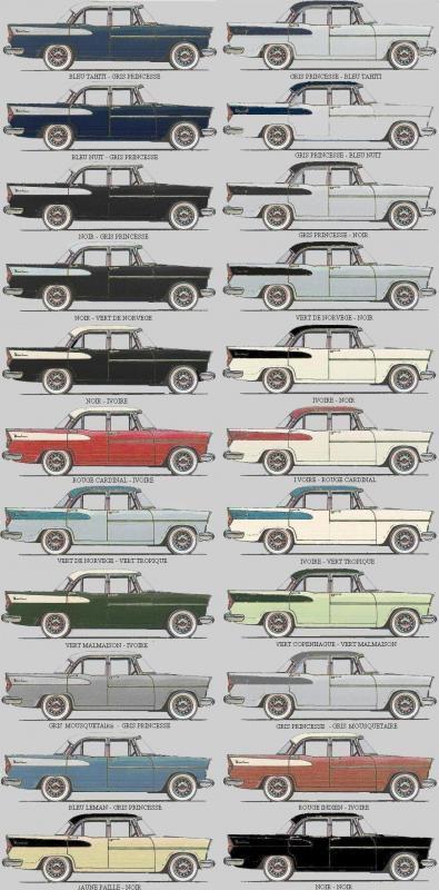 SIMCA VEDETTE deuxième série (1957 – 1961) - La SIMCA CHAMBORD