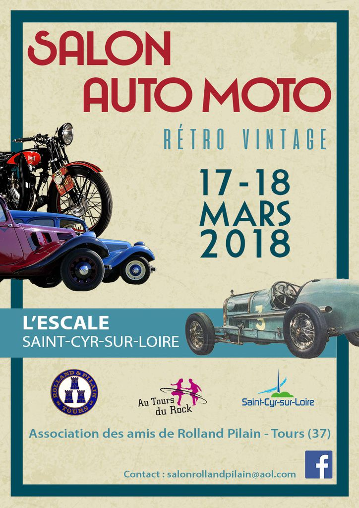 17 et 18 mars 2018 tours 37 salon auto moto r tro vintage avec l association des amis de. Black Bedroom Furniture Sets. Home Design Ideas