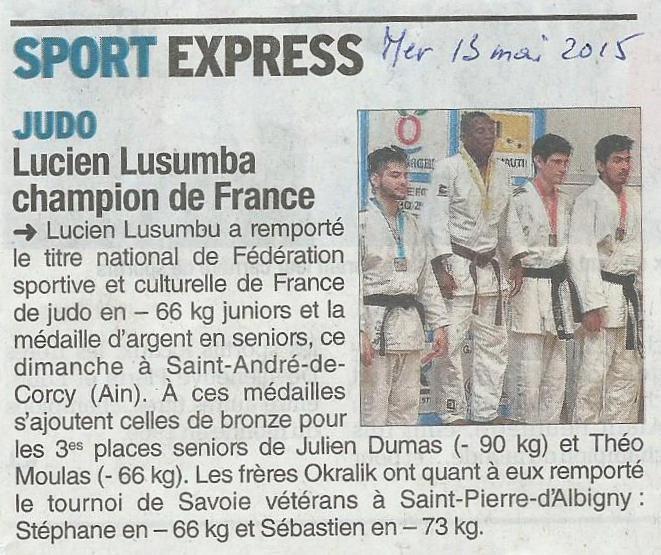 Lucien Champion de France FSCF