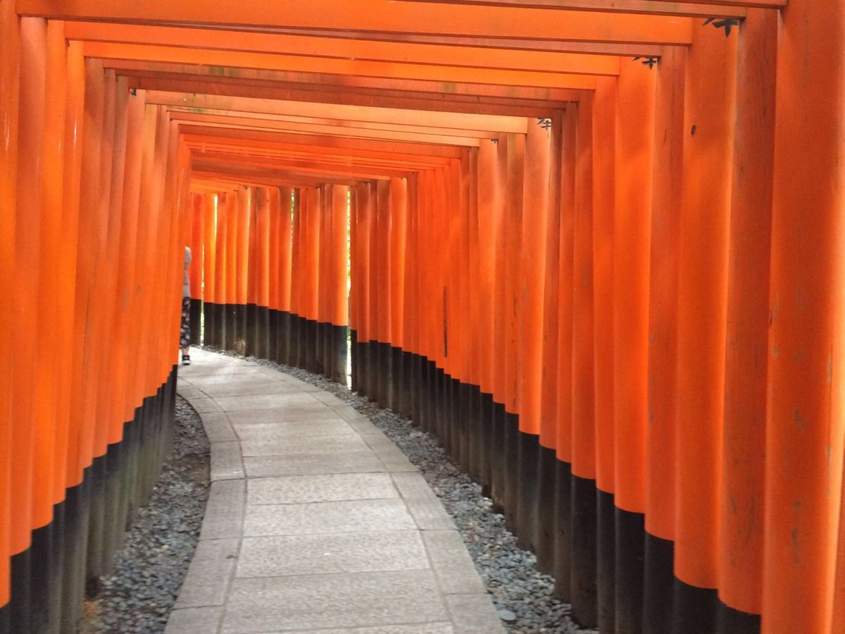 "Chemin de Tori ""Fushimi Inari Taisha"" et Jardin minéral du Ryoanji à Kyoto....ZEN !!!!"