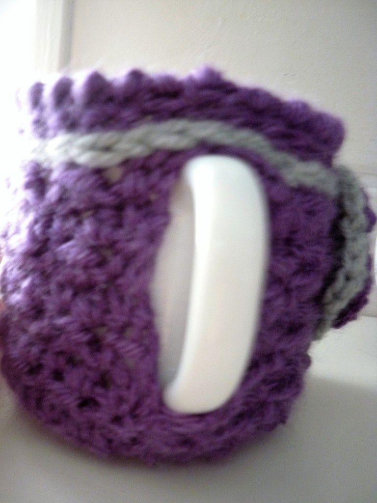 Housse de mug, au crochet