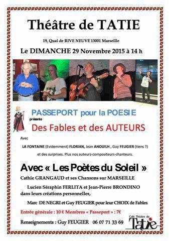Nos amis et partenaires Alain d'Aix-Guy Feugier- Lucien Ferlita invitent nos adhérents marseillais et voisins à les rejoindre.