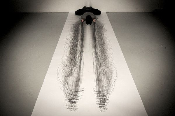 Performance-Drawing @ Tony Orrico