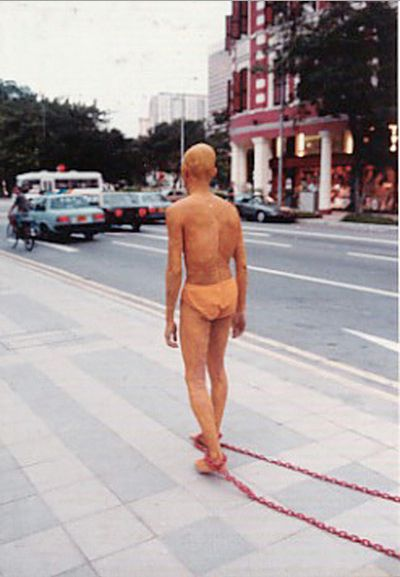 Journey of a Yellow Man no. 3 Desire @ Lee Wen. 1993. Singapore