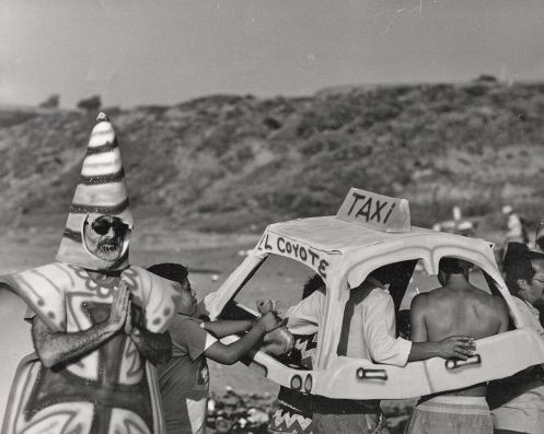 Border Action @ Guillermo Gomez-Pena. 1985. Playa Tijuana