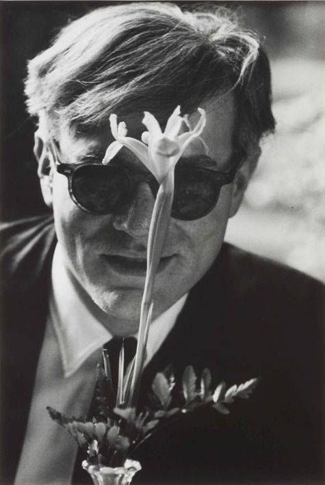 Andy Warhol with Flower @ Dennis Hopper. 1963