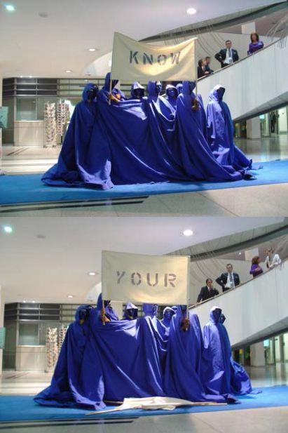 The Blue Cape Of Human Rights European Parliament @ Nicola L. 2008. Brussels 8 oct.