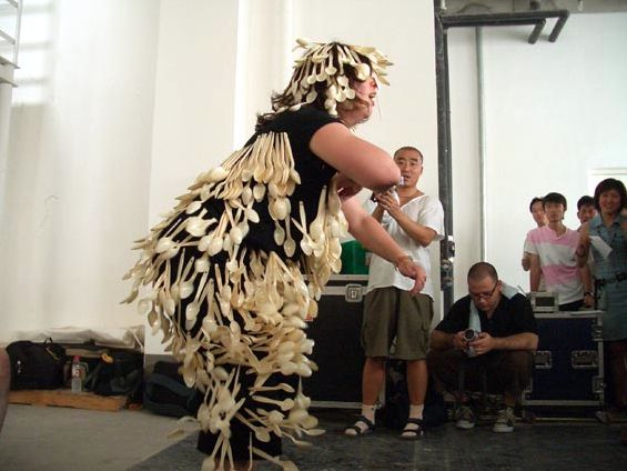 Come on @ Hayley Newman. 2004. 2nd dadao live art festival. Pekin